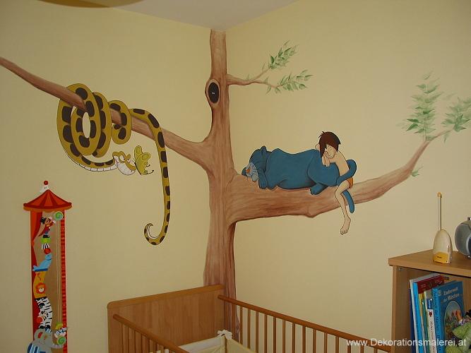 Babyzimmer Wandmalerei Kinderzimmer